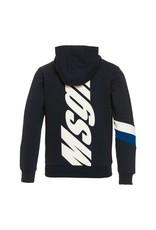 MSGM gilet rits kap blauw logo