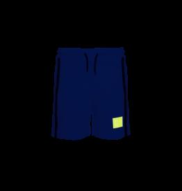 MSGM short fleece blauw en fluo geel