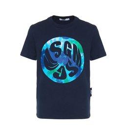 MSGM T-shirt donker blauw met aqua