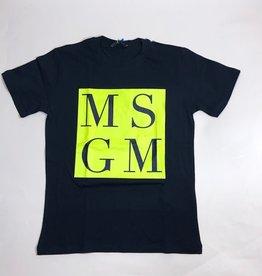 MSGM T-shirt blauw fluo geel