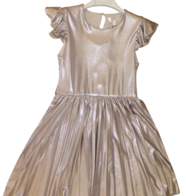 Kocca jurk zand kleur plisse rok