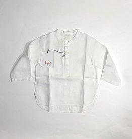 Il gufo hemd maokraag wit linnen
