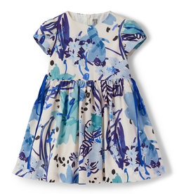 Il gufo jurk dessin ocean blue