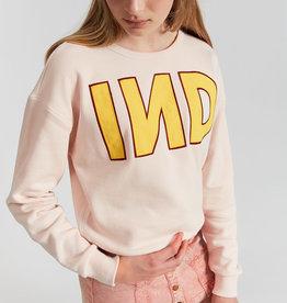 Indee sweater ecru/roze ind