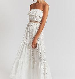 Indee jurk wit lang kant