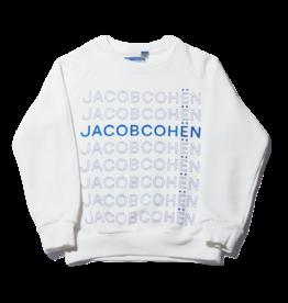 Jacob Cohen sweater multilogo wit cobalt