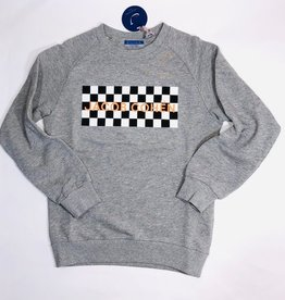Jacob Cohen grijze sweater racing logo flluo