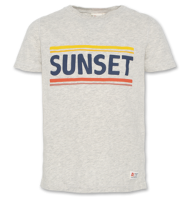 AO76 t-shirt grijs sunset