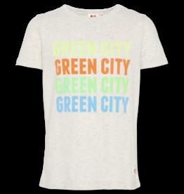 AO76 T-shirt grijs green city