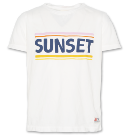 AO76 t-shirt wit sunset