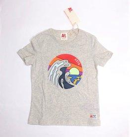 AO76 t-shirt grijs sea