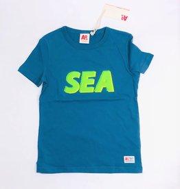 AO76 t-shirt blauw sea