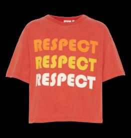 AO76 t-shirt oversized rood respect