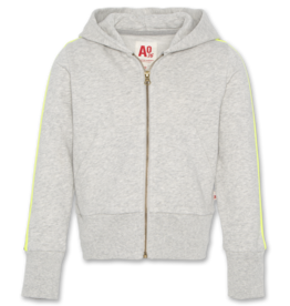 AO76 hoodie grijs met rits