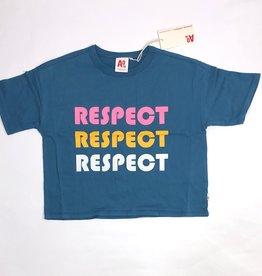AO76 t-shirt oversized blauw respect