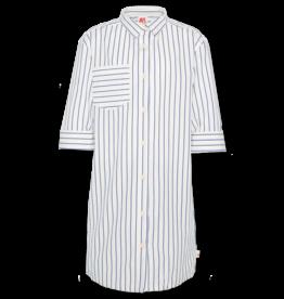 AO76 jurk blauw strepen lola