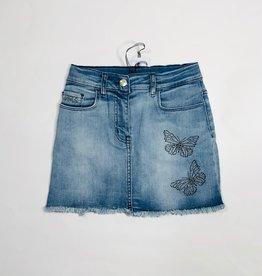Monnalisa jeans rok met vlinders