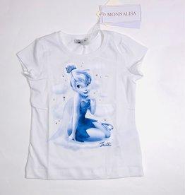 Monnalisa t-shirt wit meisje blauw