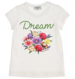 Monnalisa T-shirt bloemen boeket dream