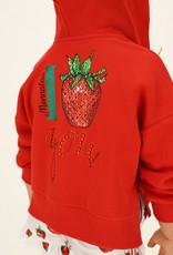 Monnalisa rode sweater kap en ritsjes