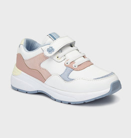 Mayoral sneaker wit zalm velcro