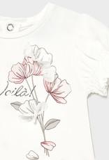 Mayoral jurk ecru roze bloem voila