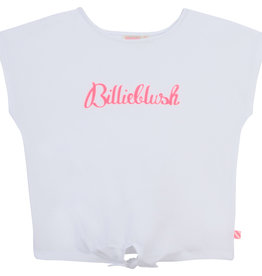 Billieblush T-shirt wit fluo letters