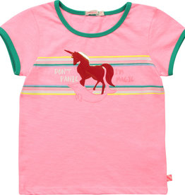 Billieblush T-shirt rose don't panic