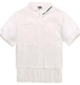Karl Lagerfeld blouse wit km met zwart logo