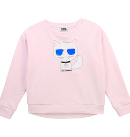 Karl Lagerfeld sweater rose met kat