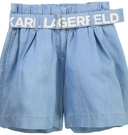 Karl Lagerfeld short rokeffect blauw bleach