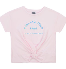 Karl Lagerfeld T-shirt rose letters zilver