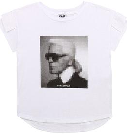 Karl Lagerfeld T-shirt km wit gezicht Karl
