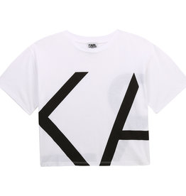 Karl Lagerfeld T-shirt wit letters Karl zwart
