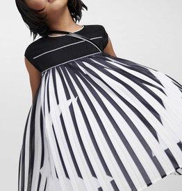 Karl Lagerfeld jurk zwart ecru plisse