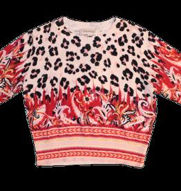 Twinset trui leopard+print