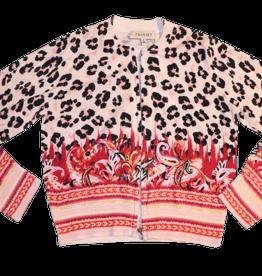 Twinset gilet leopard+print