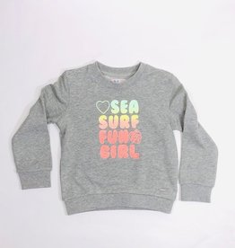 Blue Bay sweater Pops grijs print