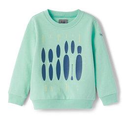Il gufo sweater aquagroen
