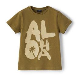 Il gufo T-shirt kaki Aloha