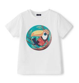 Il gufo T-shirt wit toekan