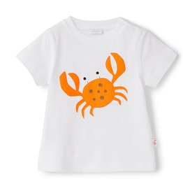 Il gufo T-shirt wit-oranje krab