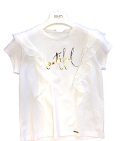 Liu Jo Top wit voile mouw