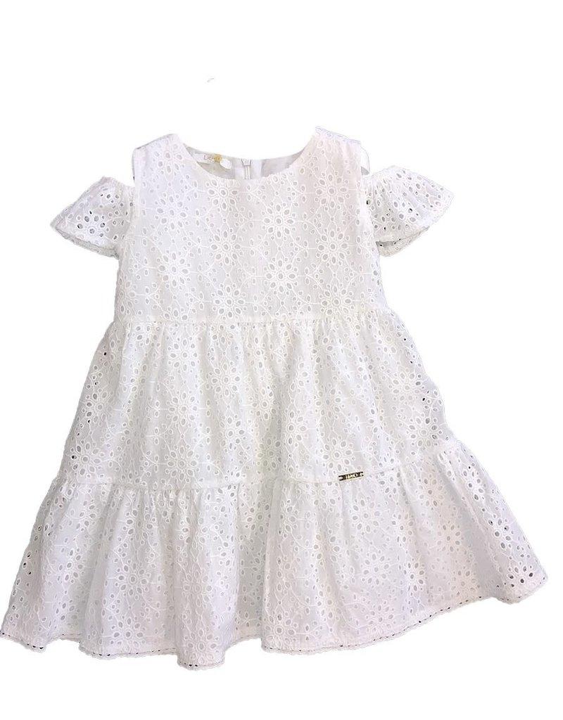 Liu Jo jurk wit gaatjes