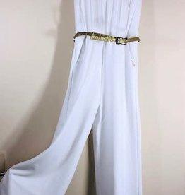 Liu Jo jumpsuit wit plisse boven