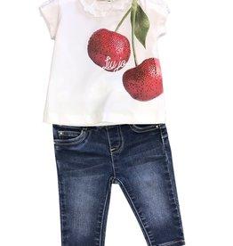 Liu Jo T-shirt wit kersen glitters