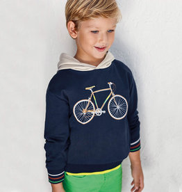 Mayoral hoodie t-shirt blauw met lm