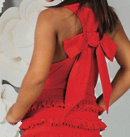 Special Day jurk rood zm stroken
