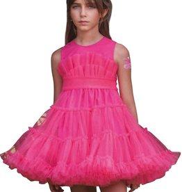 Mimilu wijde fuchsia jurk