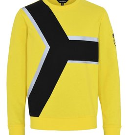 Lamborghini sweater geel contrast zwart